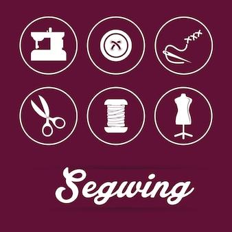 Concepto de costura con diseño de icono