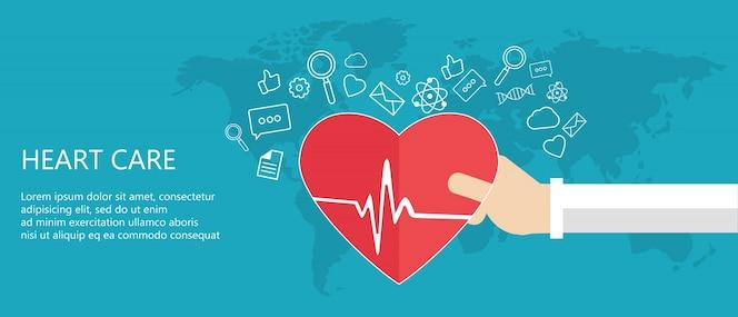 Concepto de cuidado del corazón