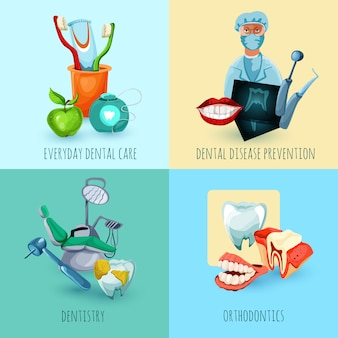 Concepto de diseño de estomatología