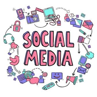 Concepto de diseño de redes sociales