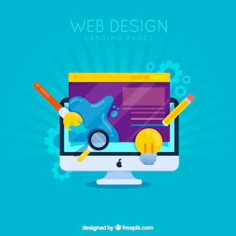 Concepto de diseño web para la página de destino