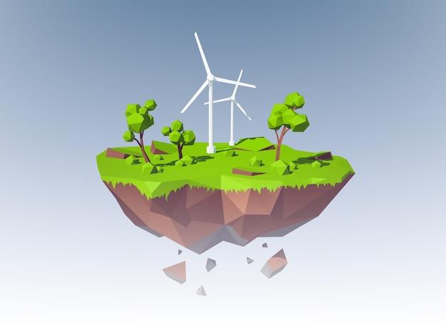Concepto de ecología de la isla