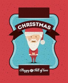 Concepto de feliz navidad con diseño de iconos de decoración