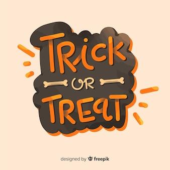 Concepto de fondo de lettering de halloween