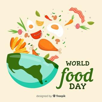 Concepto de fondo moderno del día internacional de la comida