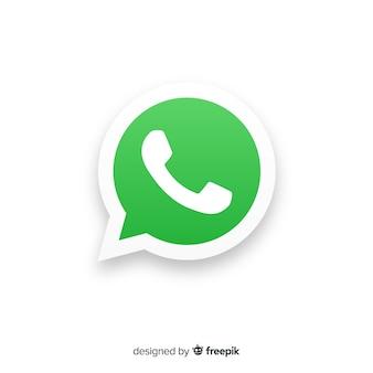 Concepto de icono de whatsapp