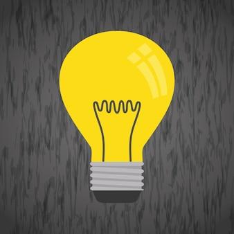 Concepto de idea con diseño de icono de bombilla