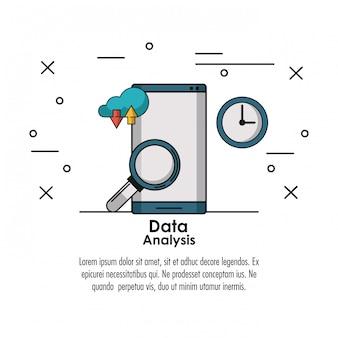 Concepto de infografía de análisis de datos
