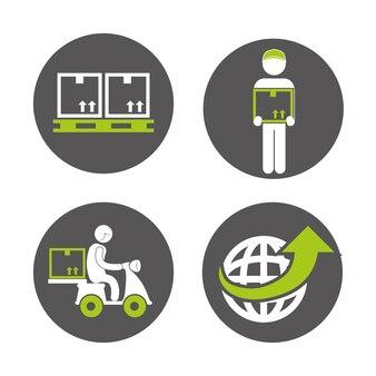 Concepto de logística con diseño de icono