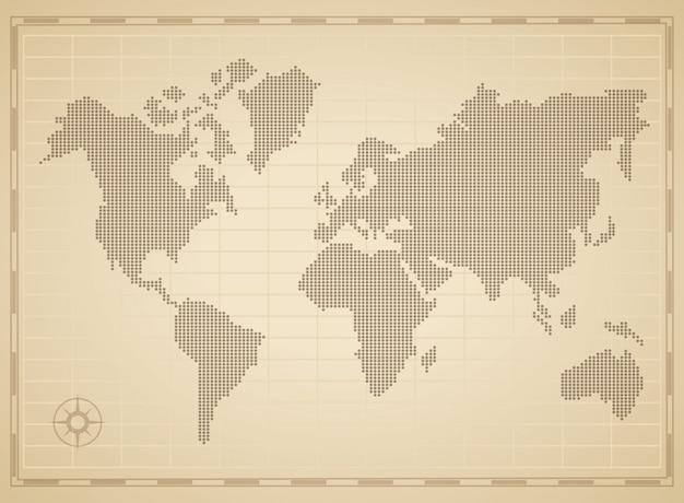 Concepto de mapa mundial