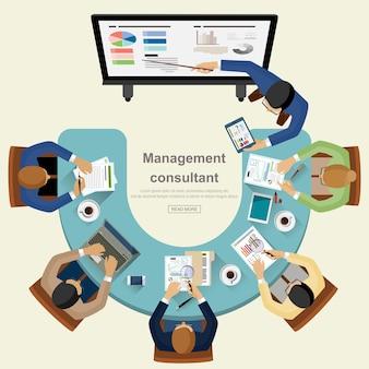 Concepto de negocio para el trabajo en equipo.
