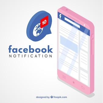 Concepto de notificación de facebook