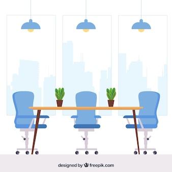 Concepto de oficina para una página de destino del sitio web