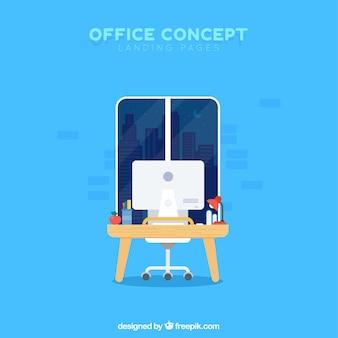Concepto de oficina para una página de destino