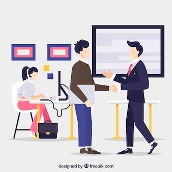 Concepto de página de destino con gente de negocios