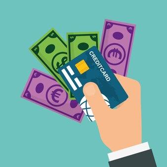 Concepto de pago con diseño de icono