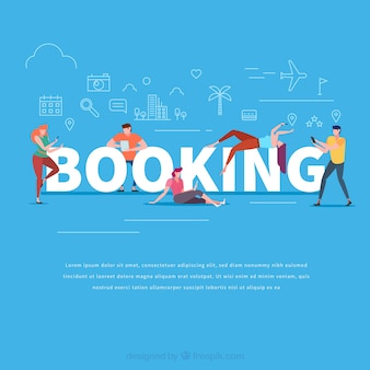 Concepto de palabra booking