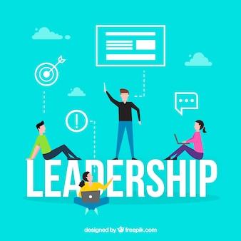 Concepto de palabra leadership