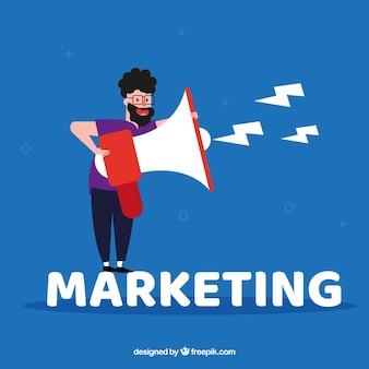 Concepto de palabra marketing