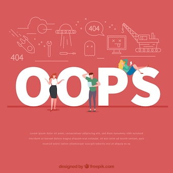 Concepto de palabra oops