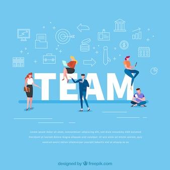 Concepto de palabra team