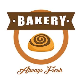 Concepto de panadería con diseño de icono