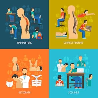 Concepto de postura 2x2