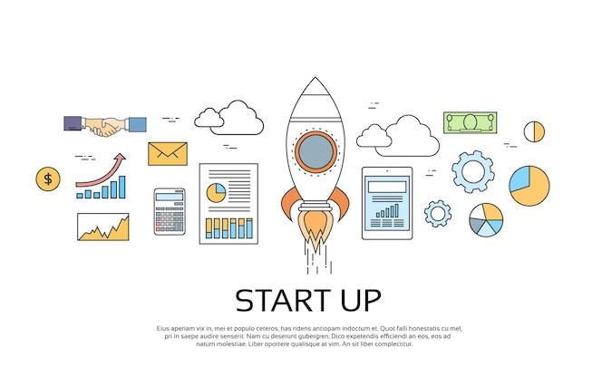 Concepto de puesta en marcha nuevo plan de negocios