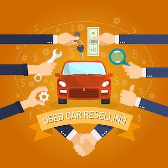 Concepto de reventa de automóviles
