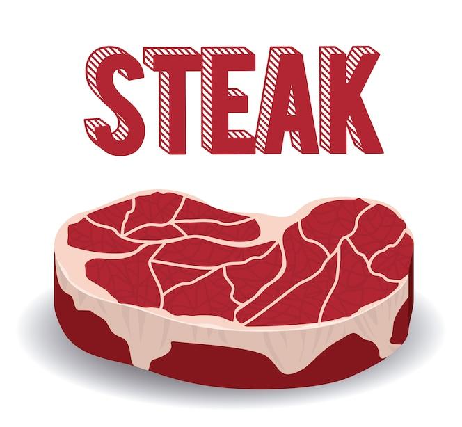 Concepto de steak house con diseño de carne