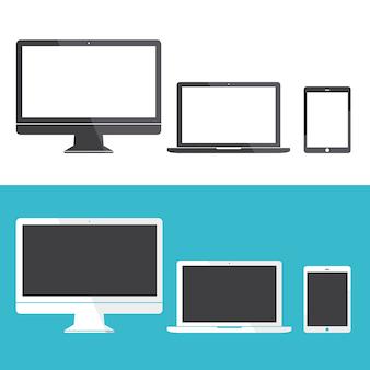 Concepto de vector de icono de dispositivo digital de tecnología