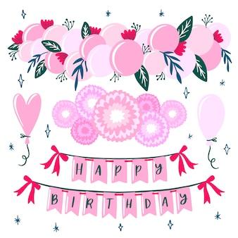 Concepto de decoración de cumpleaños