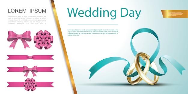 Concepto de decoración festiva del día de la boda