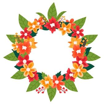 Concepto de decoración floral onam
