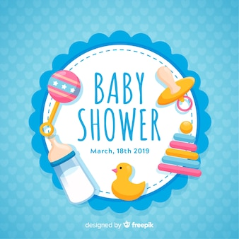 Concepto decorativo de baby shower