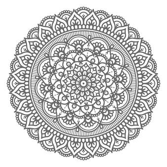 Concepto decorativo de ilustración de mandala circular y abstracto