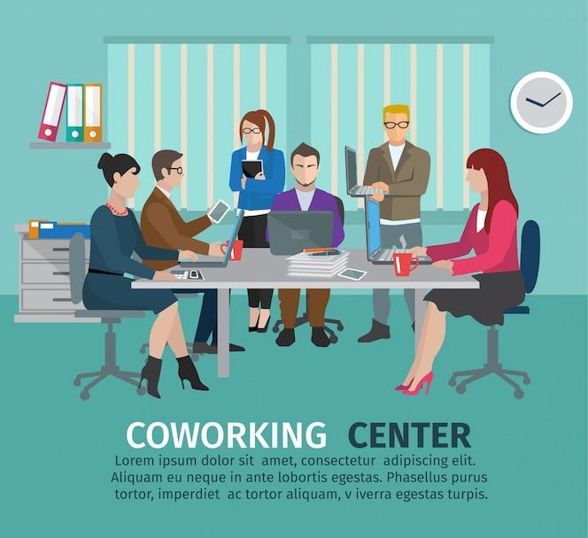 Concepto del centro de coworking
