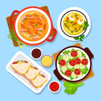Concepto delicioso de comida reconfortante