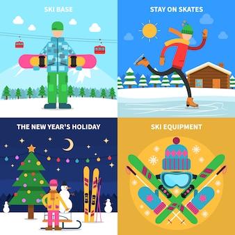 Concepto de deporte de invierno