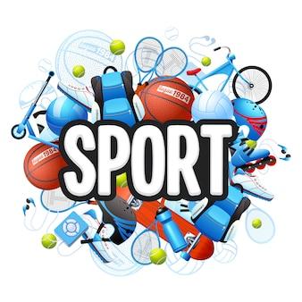 Concepto de deportes de verano
