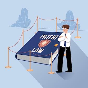 Concepto de derecho de patentes ilustrado