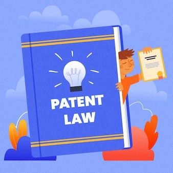 Concepto de derechos legales de la ley de patentes