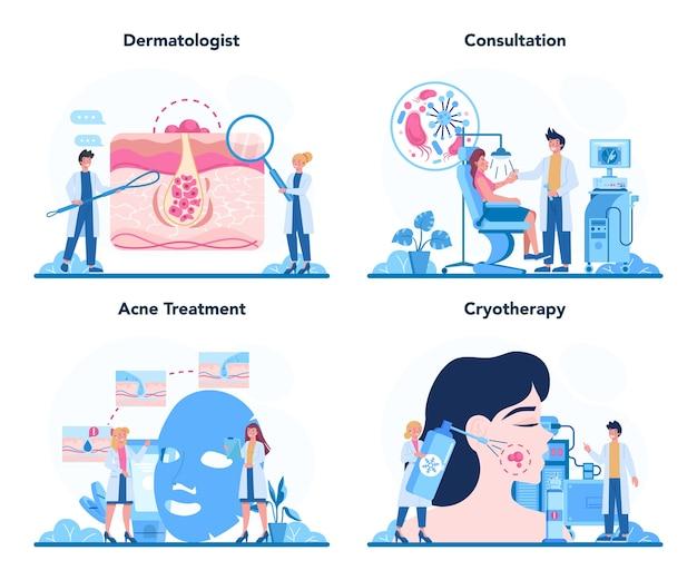 Concepto de dermatólogo