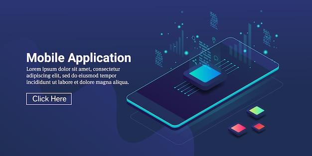 Concepto de desarrollo de aplicaciones móviles