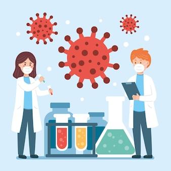 Concepto de desarrollo de la vacuna contra el coronavirus