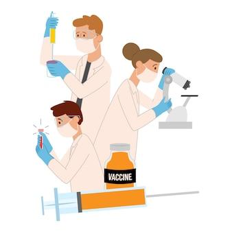 Concepto de desarrollo de vacunas