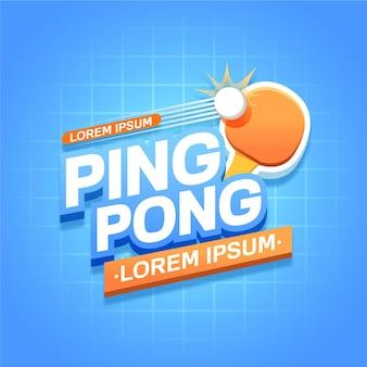 Concepto detallado del logo de tenis de mesa