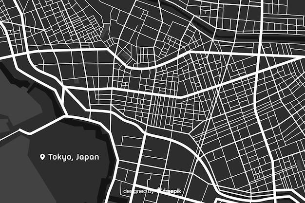 Concepto detallado del mapa digital de la ciudad