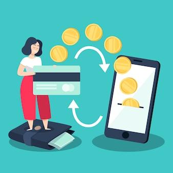 Concepto de devolución de efectivo del diseño de oferta