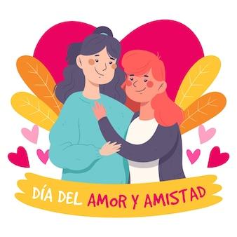 Concepto de día de amor y amistad